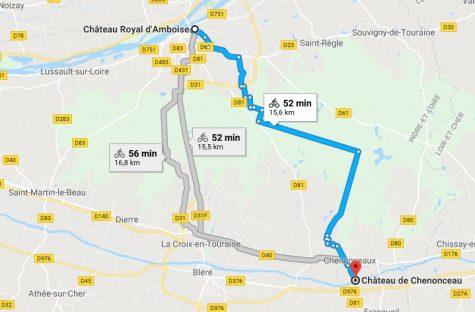 Parcours Amboise-Chenonceau
